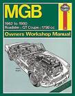 Haynes 111 Service & Repair Manual for MGB Roadster & GT Coupe 1962-80