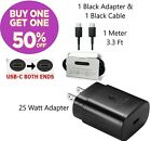 OEM Samsung Galaxy s20+ Ultra 25W USB-C Fast Wall Charger & Type C Cable Black