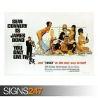 YOU ONLY LIVE TWICE SEAN CONNERY 007 (ZZ093) MOVIE POSTER Poster A0 A1 A2 A3