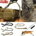Tactical Military K9 Dog Collar Necklace Train Bungee Leash - M/L Dog Heavy Duty