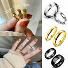 Fashion Wedding Band Rings Men Women 4mm/6mm Stainless Steel Smooth Couple Ring