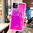 Glow Luminous Dynamic Quicksand Liquid Neon Sand Cover Case For iPhone Samsung