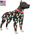 LovinPet Dog Jammies For Pitbulls/Space Astronauts Travel Black Prints