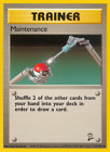 112/130 Maintenance - Base Set 2 - Uncommon Pokemon TCG Card