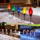 CHRISTMAS Pathway PRE-LIT Stakes Walkway Lights SET Holiday Yard Xmas Decoration