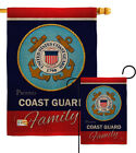 Coast Guard Proudly Family Burlap Garden Flag Armed Forces Yard House Banner