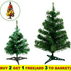 '1ft-2ft Christmas Pine Tree Stand Bushy Xmas Traditional Home Decoration Green