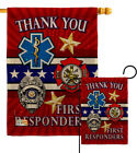 First Responders Burlap Garden Flag Service Armed Forces Gift Yard House Banner