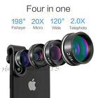4in1 Cell Phones Camera Lens Fisheye Wide Macro Telescope Clip For iPhone 11 Pro