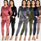 Women Nicki Suit Cargo Sport Yoga Set Basic Velour Tracksuit Adjustable Hem Zip