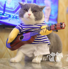 Pet Funny Guitar Costume Halloween Cosplay Outfit For Dog Cat Pet Accessories