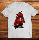 The Tampa Bay Buccaneers Fathead Pirate Ship Black White Mens Adult T Shirts