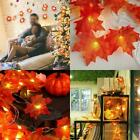 Fall Maple Leaves LED Fairy String Light Leaf Lamp Garland Party Xmas Halloween