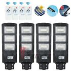1/2/4x LED 900000LM Dusk-to-Dawn  90W Solar Street Light Outdoor Area Road Lamp