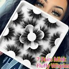 False Eyelashes 25mm 8D Mink Natural Hair Lashes Wispy Fluffy Lashes Long NEW