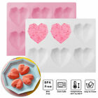 6 Grid Silicone 3d Diamond Heart Mold Chocolate Cake Pudding Baking Tool Mould