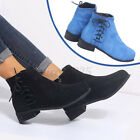 Women's Ladies Ankle Boot Lace Up Side Zipper Retro Casual Casual Short Booti