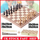 Large Chess Wooden Set Folding Chessboard Magnetic Pieces Wood Board 4 Sizes UK