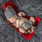 Handmade Knitted Crochet Knight Suit Newborn Photography Props Baby Clothes