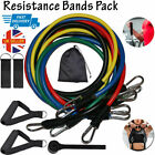 Resistance Bands Weights Home Fitness Training Gym Workout 11PCS Set or Singles