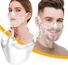 Внешний вид - CLEAR Face Mask Shield Plastic Reusable Protective Cover Transparent Anti Fog