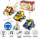 Radio Control Car 360° Rotate Race/police Car Music Light Toy For Toddlers Kids
