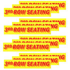"""14.5"""" Red and Yellow Adhesive Windshield Slogan Car Dealer Sticker You Pick"""