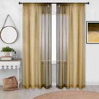 Decovsun 2 Tone Ombre Sheer Curtains For Girls Bedroom 52X84 Inch Long Purple An