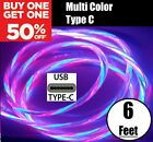 MTech 2M LED Light Up Charger Charging Cable USB Cord for Samsung iPhone LG Moto