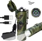 Rechargeable Windproof 3 in 1 Lighter with USB with LED Flashlight & Compass