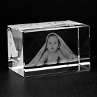 Personalized Custom 3D Photo Engraved Crystal Lamp Engraved Glass Gifts