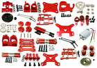 upgrade parts metal tires Swing arm C Seat for WLtoys 1:14 144001 RC car Red