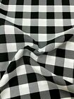 Trendy Picnic Square Plaid Gingham 100% Polyester Buffalo Check Fabric 60''/61''