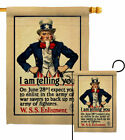 I Am Telling You Garden Flag Service Armed Forces Decorative Yard House Banner