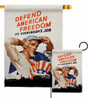 Defend American Freedom Garden Flag Service Armed Forces Decorative House Banner
