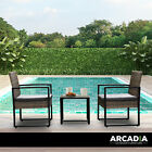 Arcadia Furniture Outdoor 3 Piece Wicker Rattan Patio Set Garden Patio Home