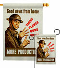 Good News From Home Garden Flag Service Armed Forces Decorative House Banner