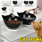 Cat Double Bowls with Raised Stand Pet Food Water Bowl Cats Dog Feed