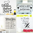 Kitchen Wall Decals Removable Vinyl Sticker Art Home Personalised Decor Mural