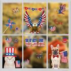 Independence Day Static Stickers Window Decals Notebook Cup Car Gift Bag Sticker