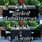 Rattan Dining Set 4 6 Seater Garden Furniture Chairs Glass Table Patio Outdoor