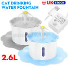 Cat Drinking Water Fountain Pet Dog Electric Automatic Bowl Filter 2.6L
