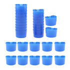 30 Pcs Pigeons Sand Cups Bird Food Water
