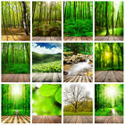 Green Forest Wood Floor Background Cloth Photography Backdrop Props