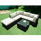 5 Seaters Rattan Sofa Garden Furniture Set Patio Chairs And  Table Outdoors