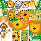 Jungle Animal Theme Party Decorations Boys Girls 1st Birthday Balloons Tableware