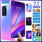 P80 PRO 7.1'' Drop Screen 5G-LTE Android 10.0 8G 128G Mobile Phone Dual SIM Card