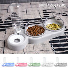 New Raised Double Pet Food Bowl Water Drink Dispenser Set Removable Cat Bowls