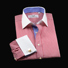 Res Stripe Formal Business Shirt With Blue Inner Lining Top Quality