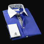 Blue Royal Oxford Formal Business With Romantic Inner Lining Professional Dress